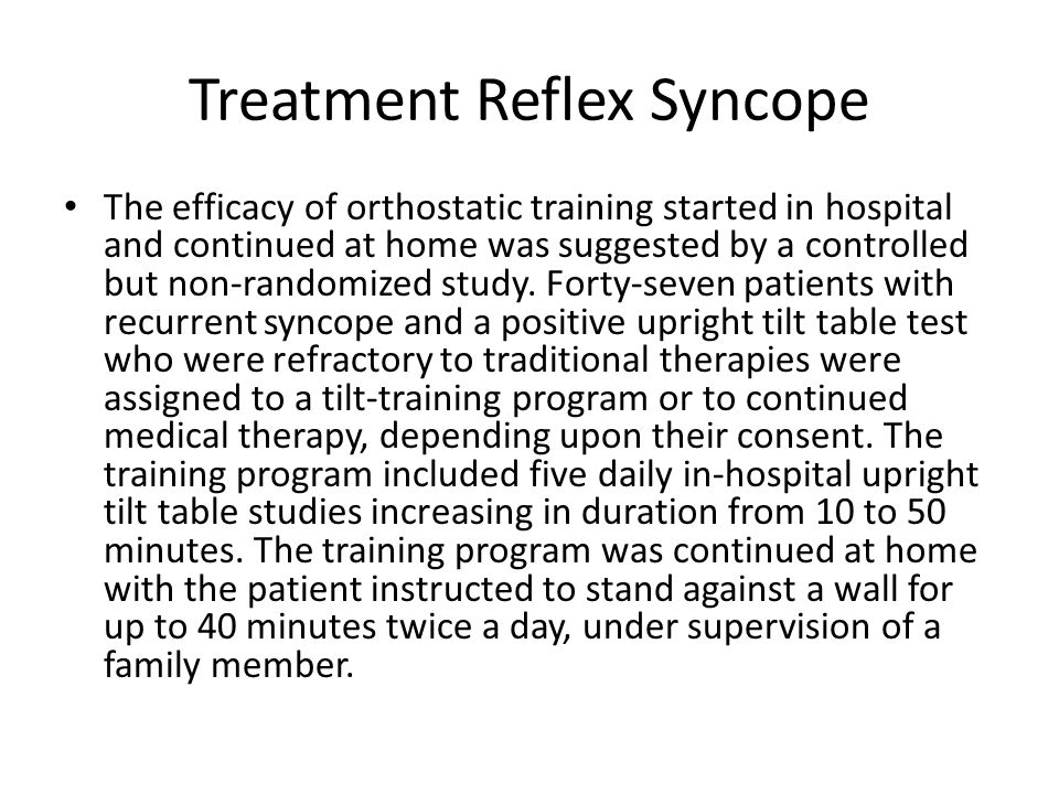 Treatment Reflex Syncope