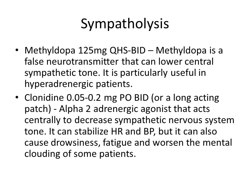 Sympatholysis