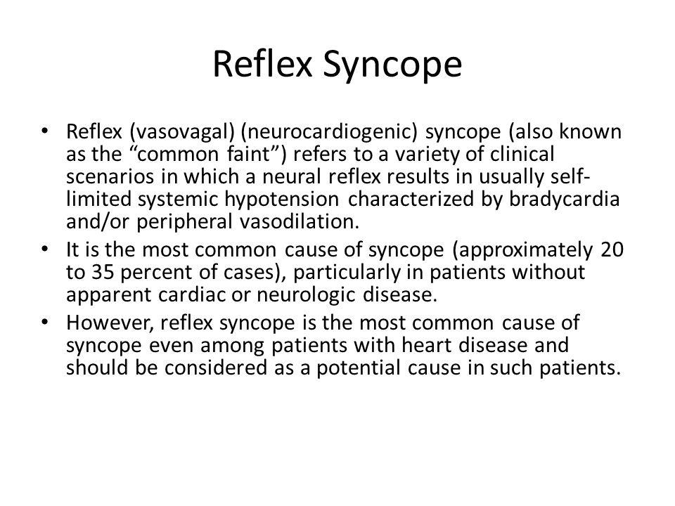 Reflex Syncope