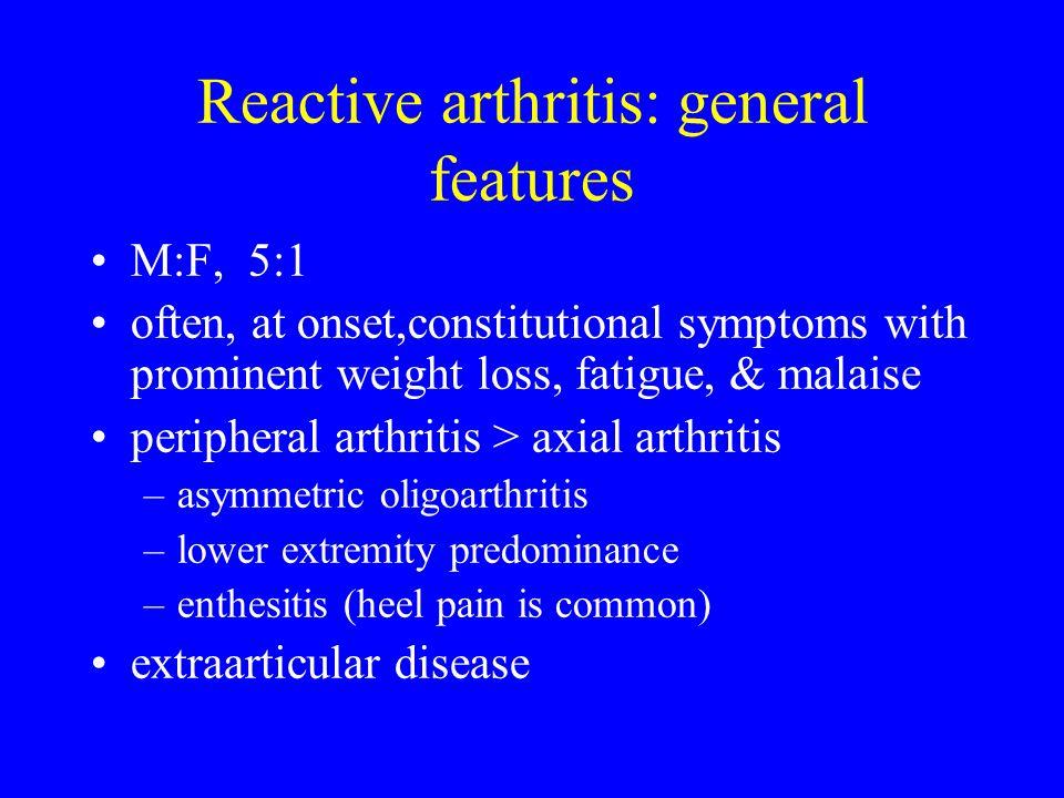 Reactive arthritis: general features