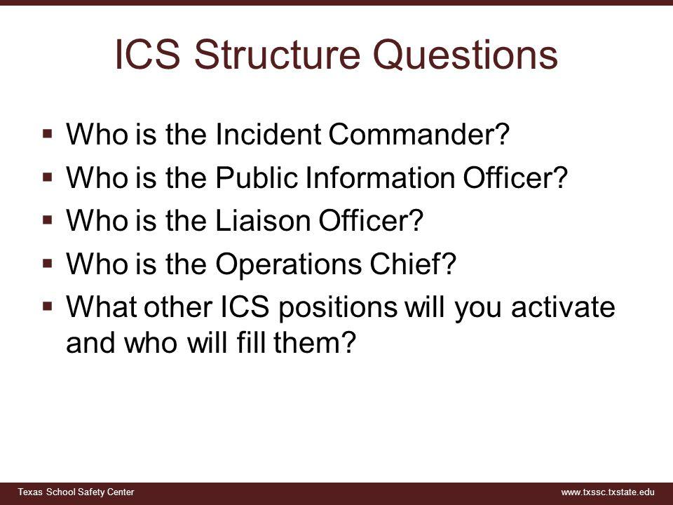 ICS Structure Questions