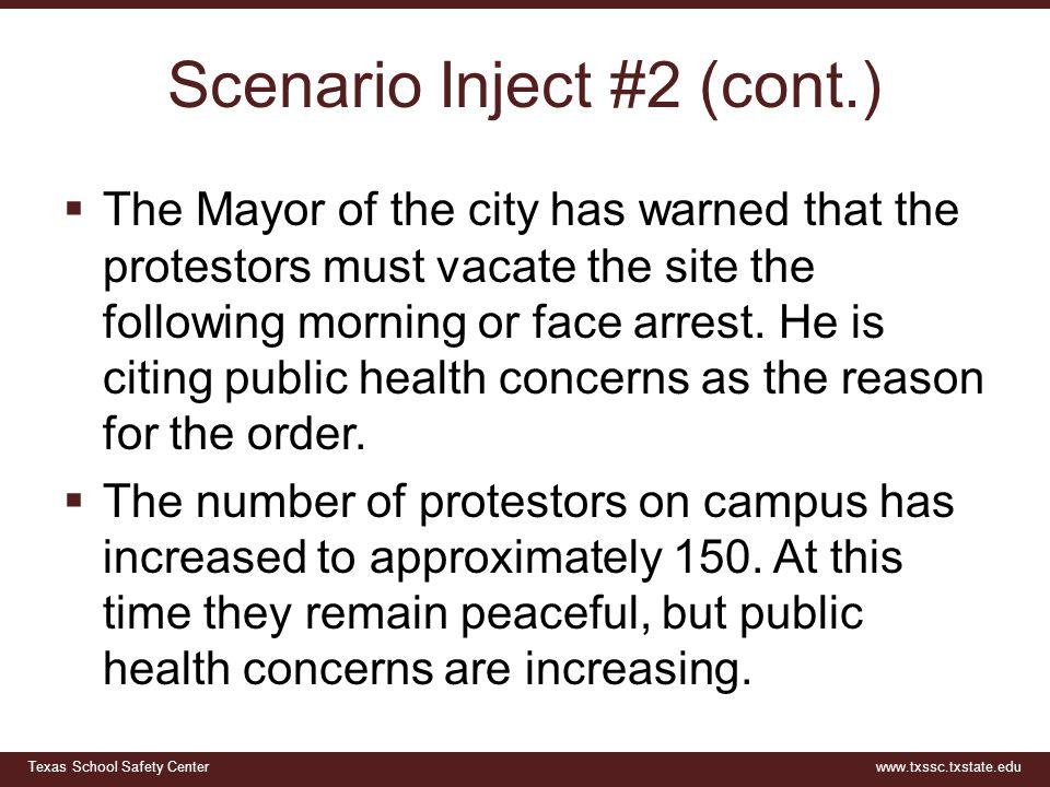 Scenario Inject #2 (cont.)