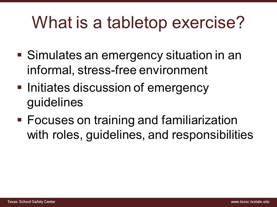 What is a tabletop exercise