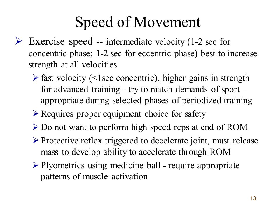 Speed of Movement