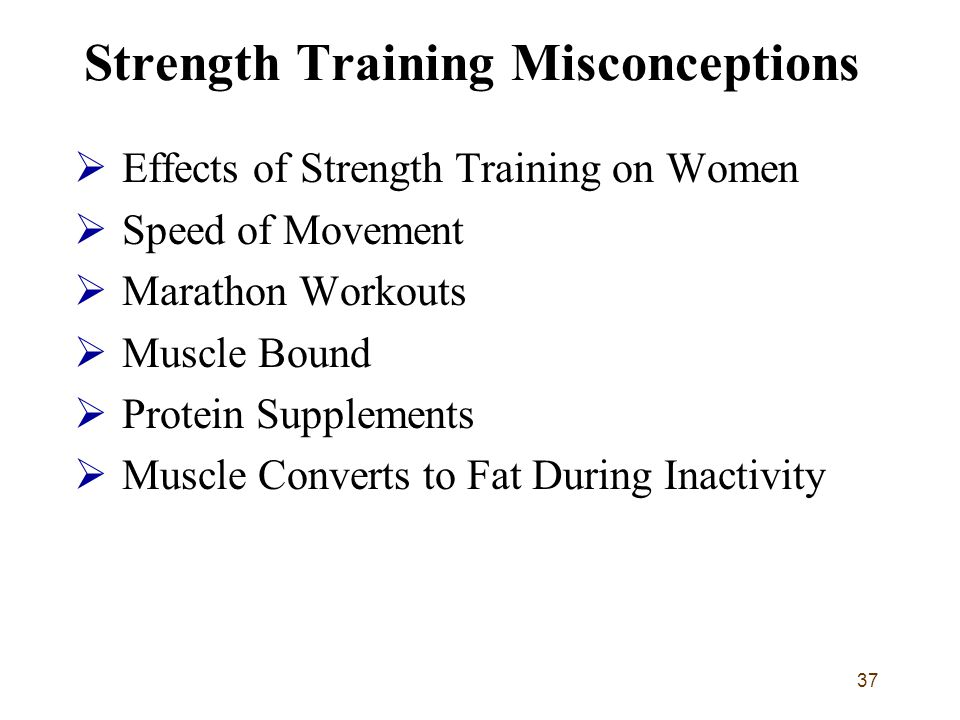 Strength Training Misconceptions