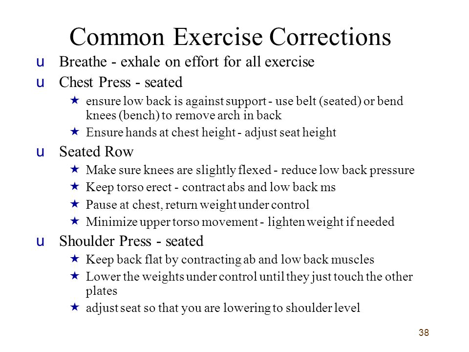 Common Exercise Corrections