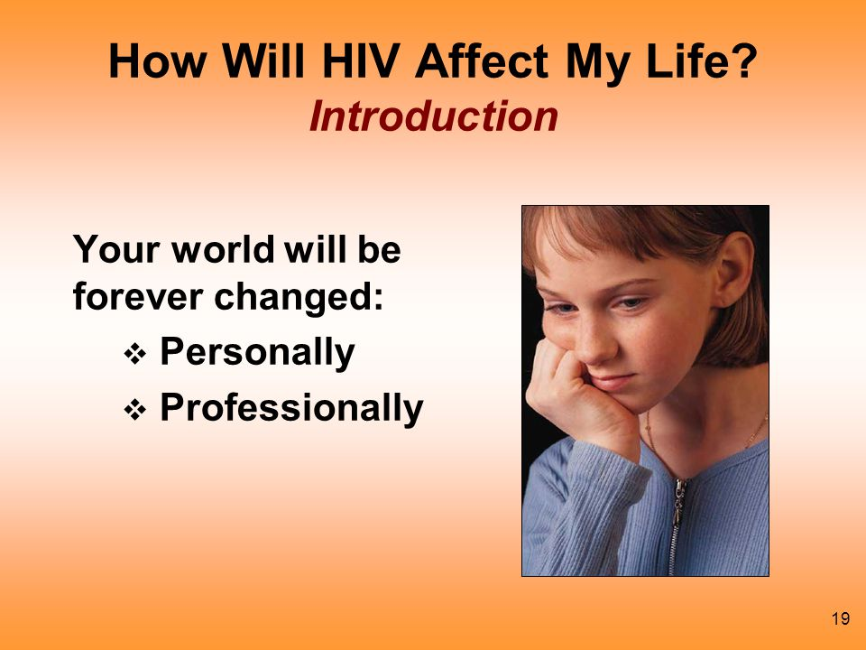 How Will HIV Affect My Life Introduction