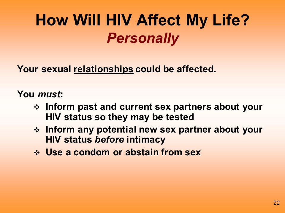 How Will HIV Affect My Life Personally