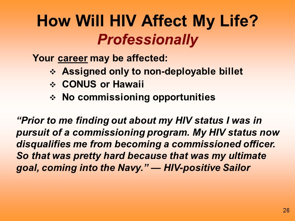 How Will HIV Affect My Life Professionally