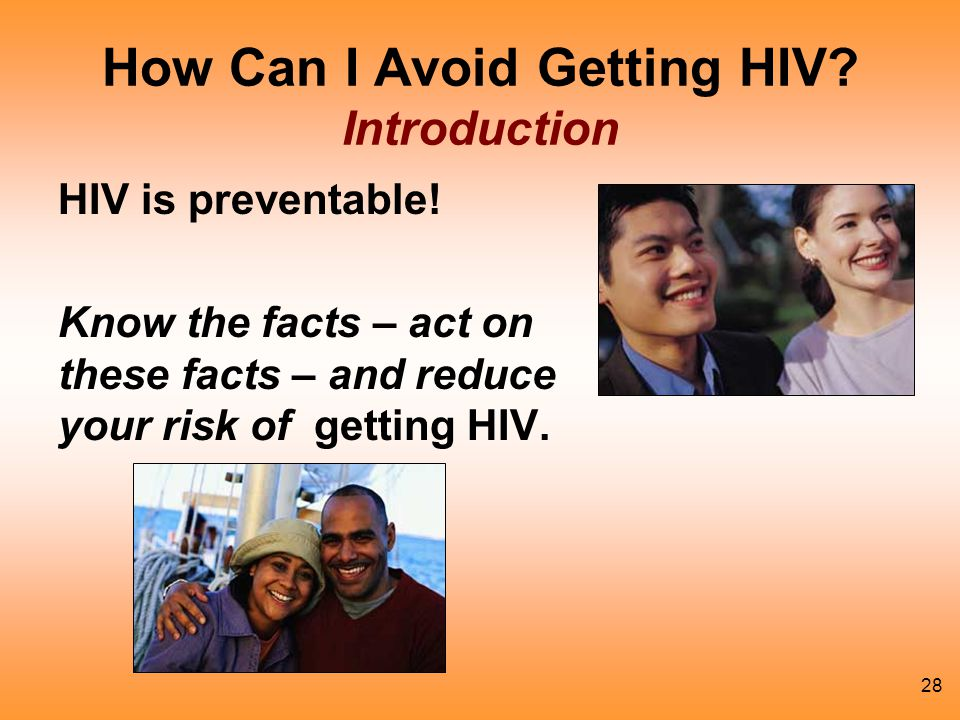 How Can I Avoid Getting HIV Introduction