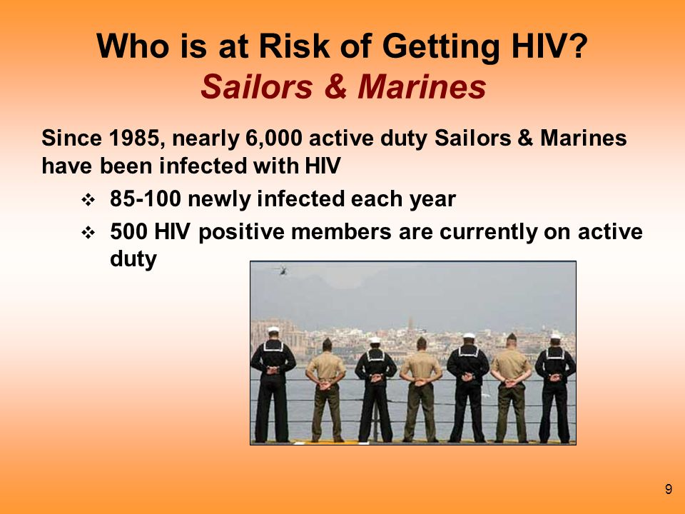 Who is at Risk of Getting HIV Sailors & Marines