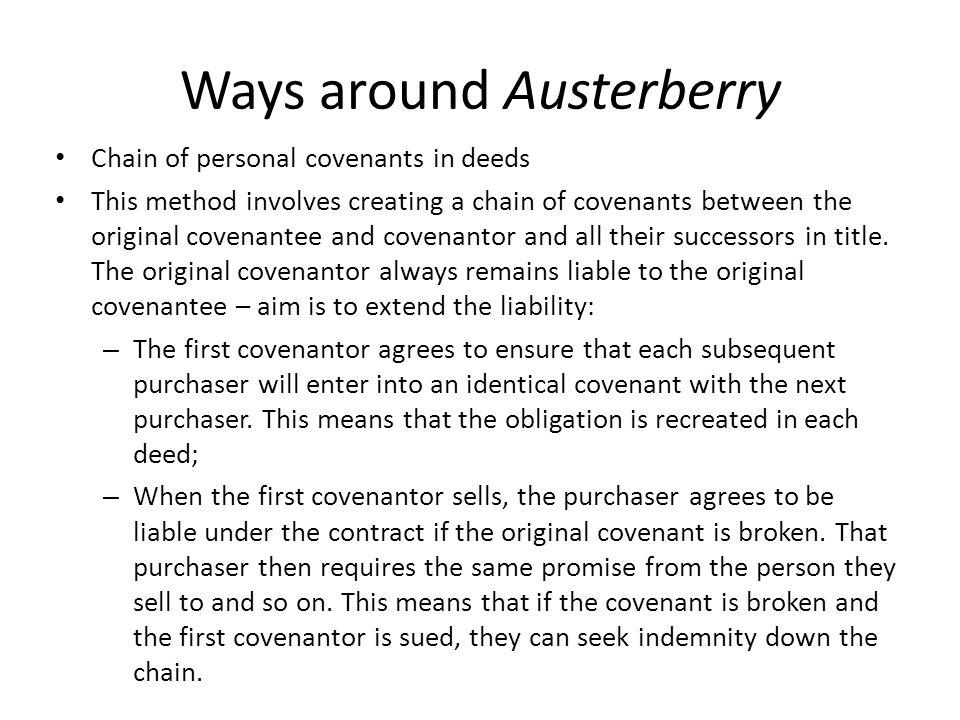 Ways around Austerberry