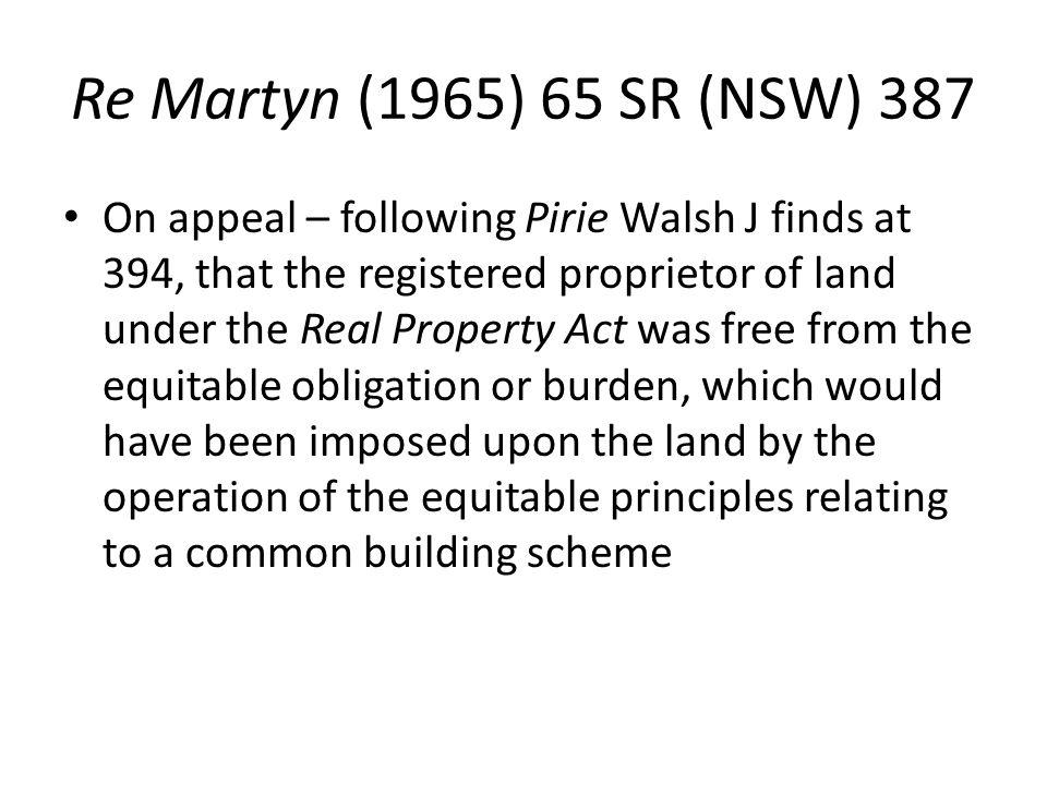 Re Martyn (1965) 65 SR (NSW) 387