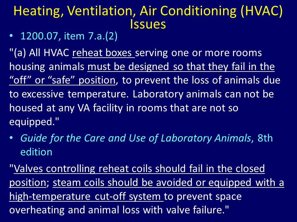 Heating, Ventilation, Air Conditioning (HVAC) Issues