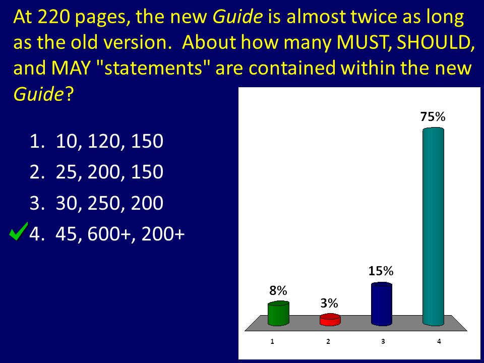 At 220 pages, the new Guide is almost twice as long as the old version
