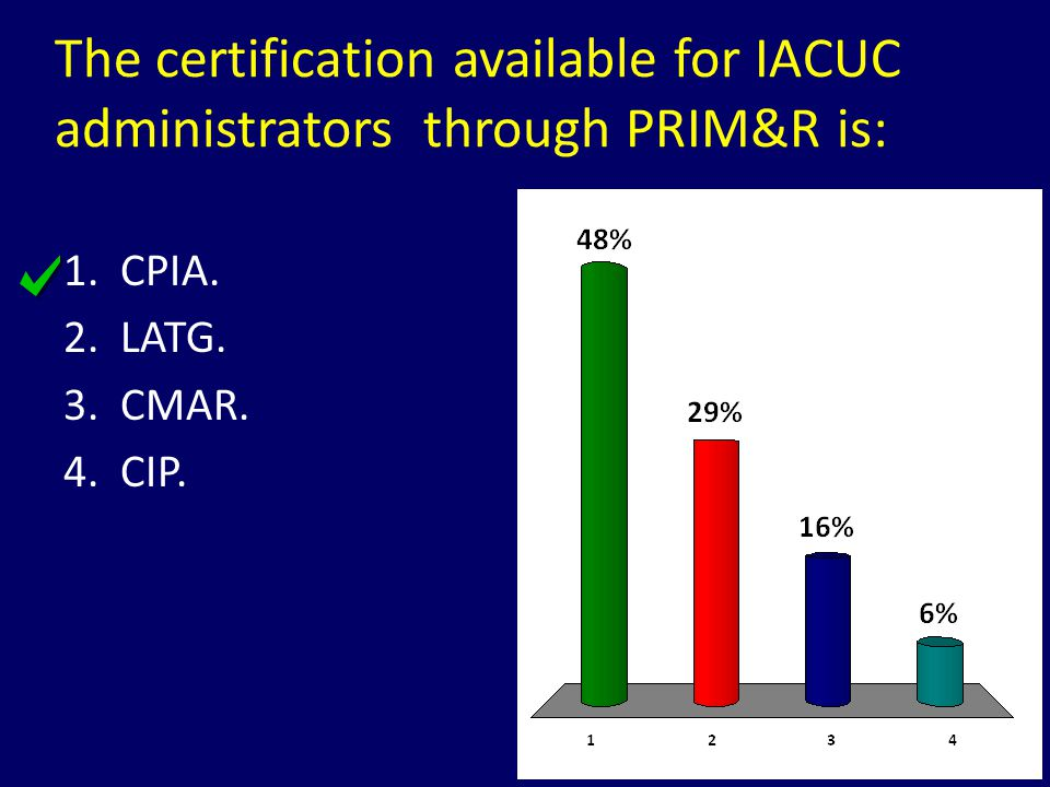 The certification available for IACUC administrators through PRIM&R is: