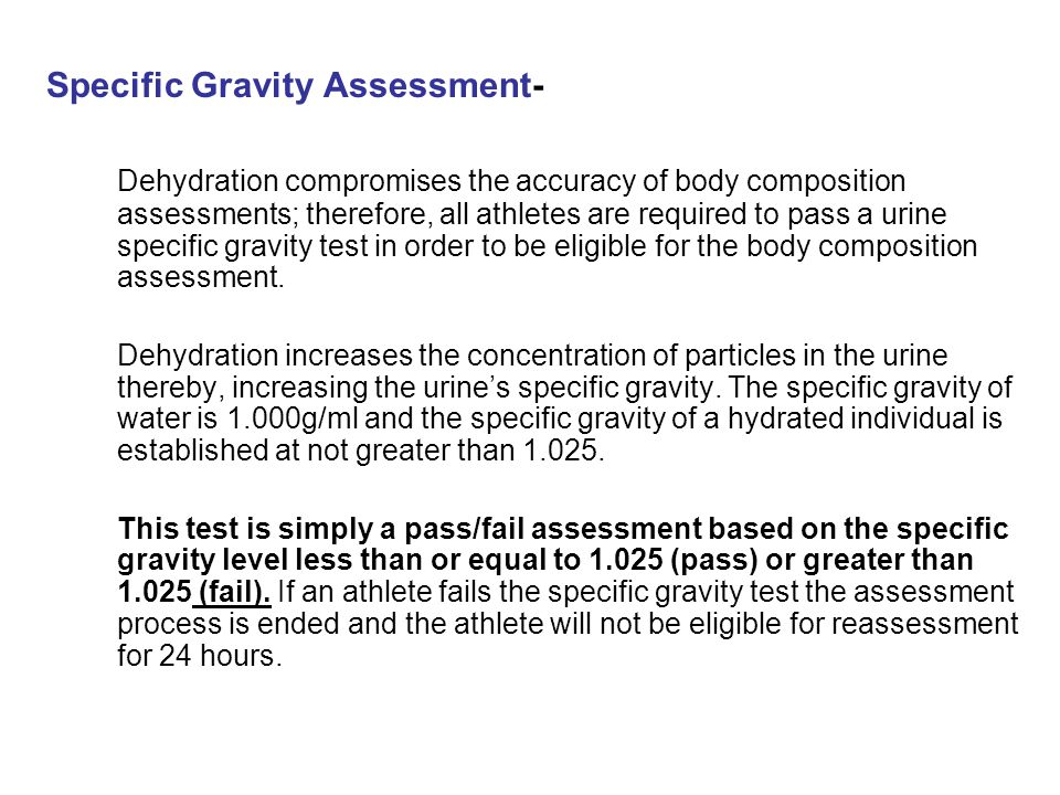 Specific Gravity Assessment-