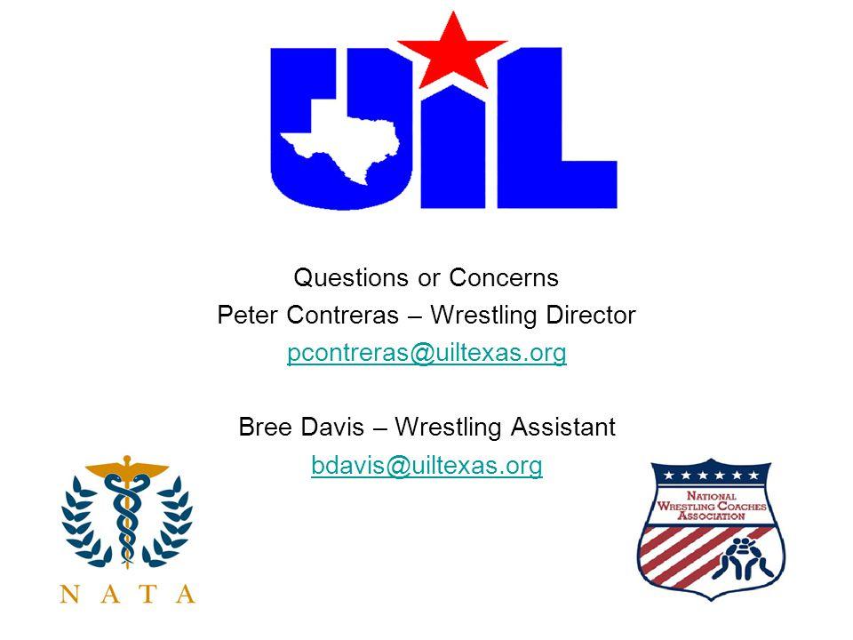 Peter Contreras – Wrestling Director pcontreras@uiltexas.org