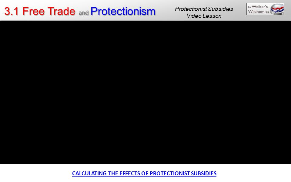 CALCULATING THE EFFECTS OF PROTECTIONIST SUBSIDIES