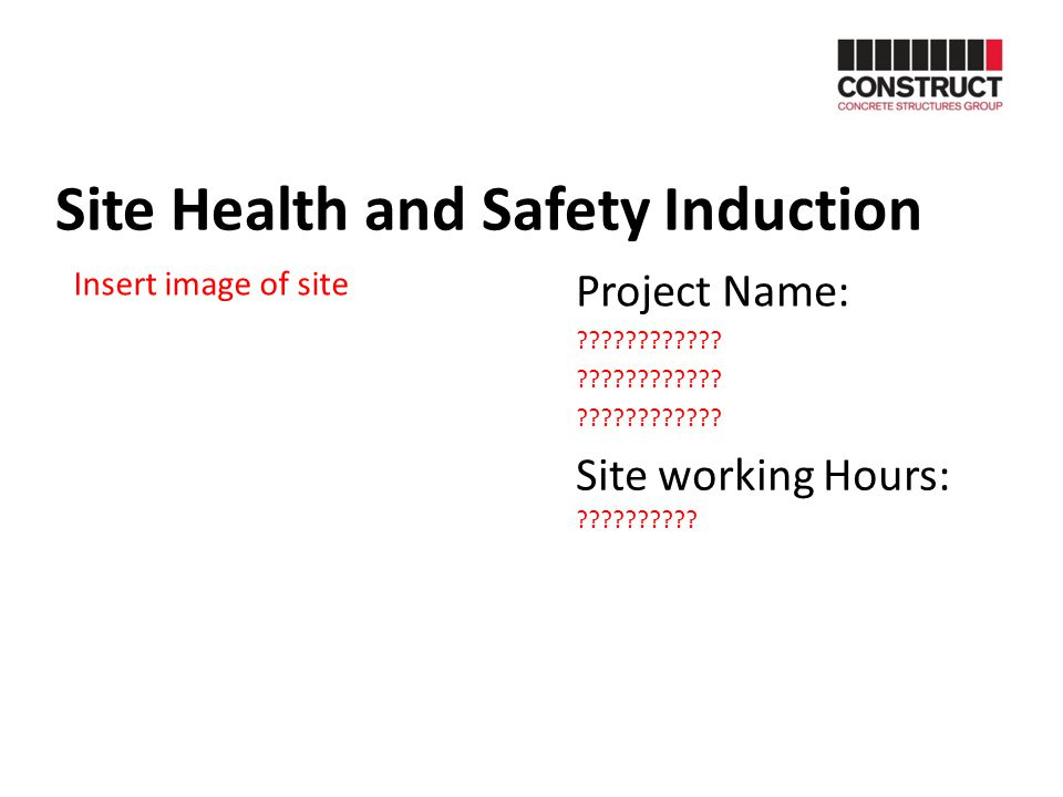 Site Health and Safety Induction