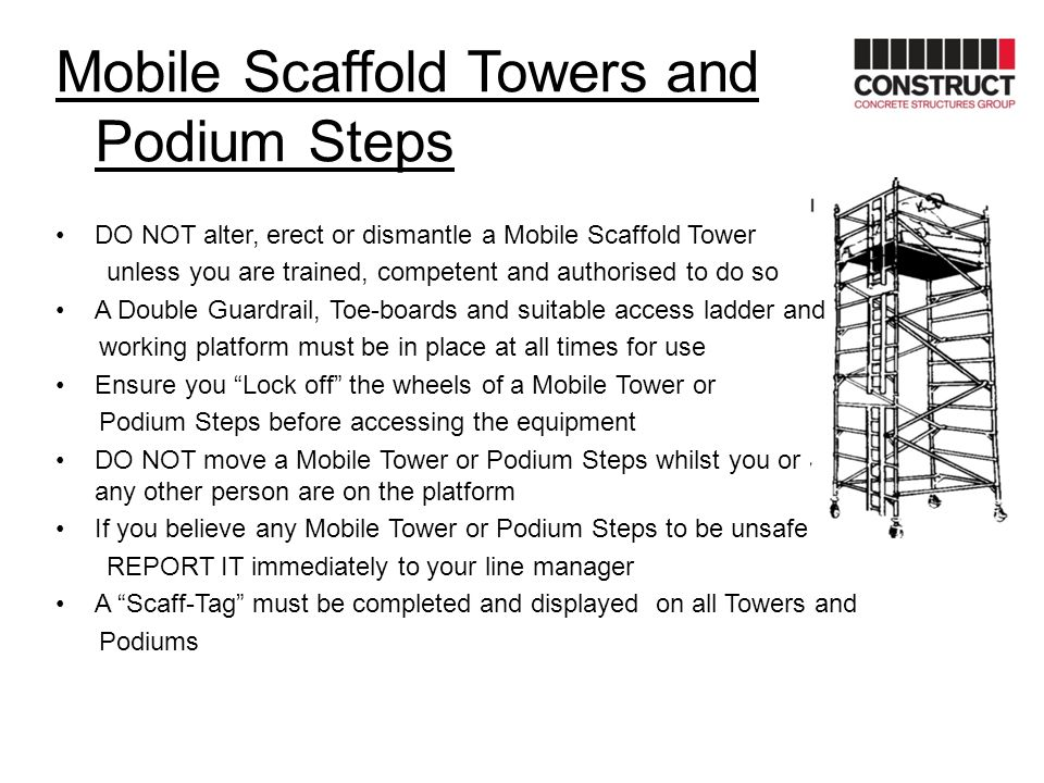 Mobile Scaffold Towers and Podium Steps
