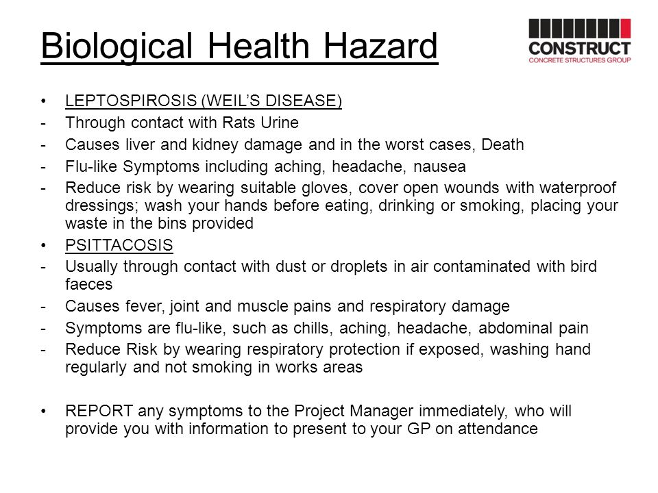 Biological Health Hazard