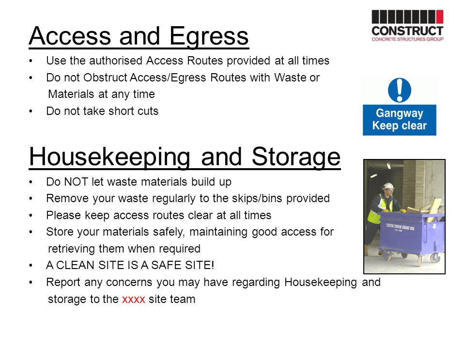 Housekeeping and Storage