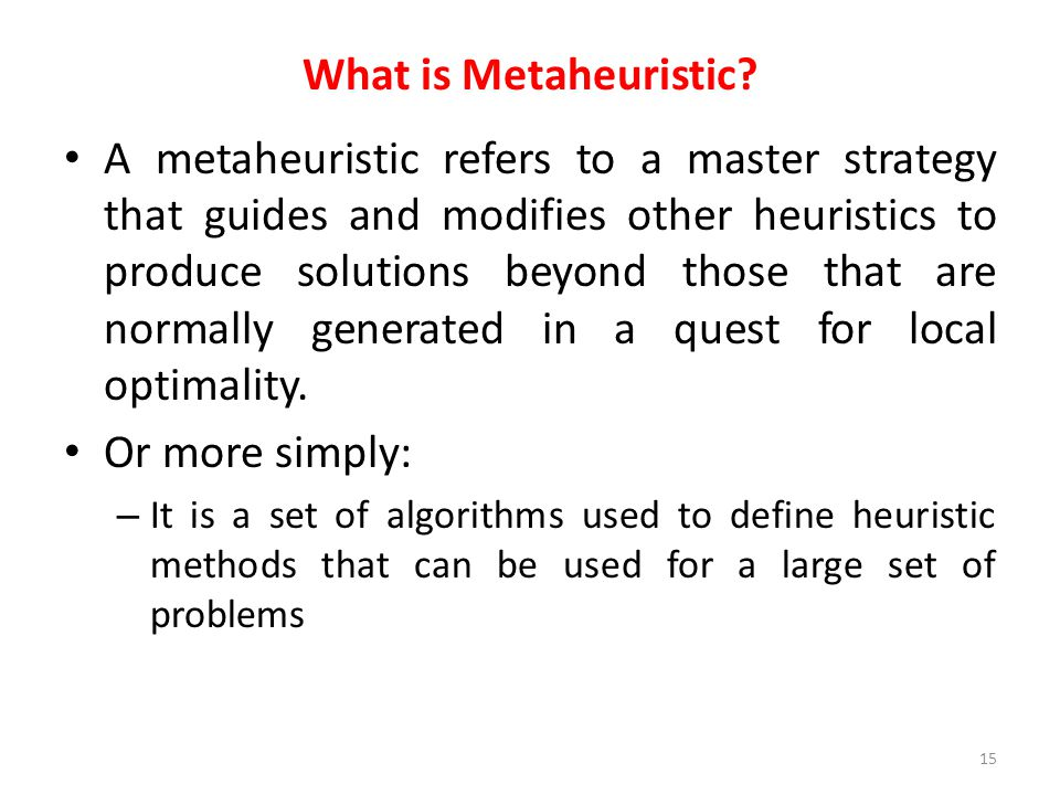 What is Metaheuristic