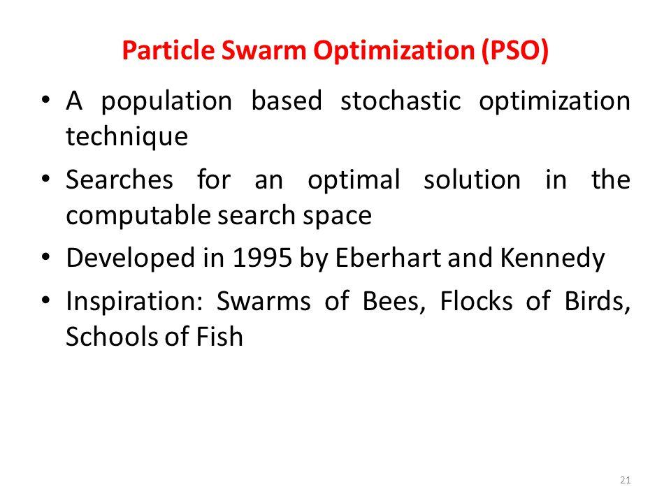 Particle Swarm Optimization (PSO)