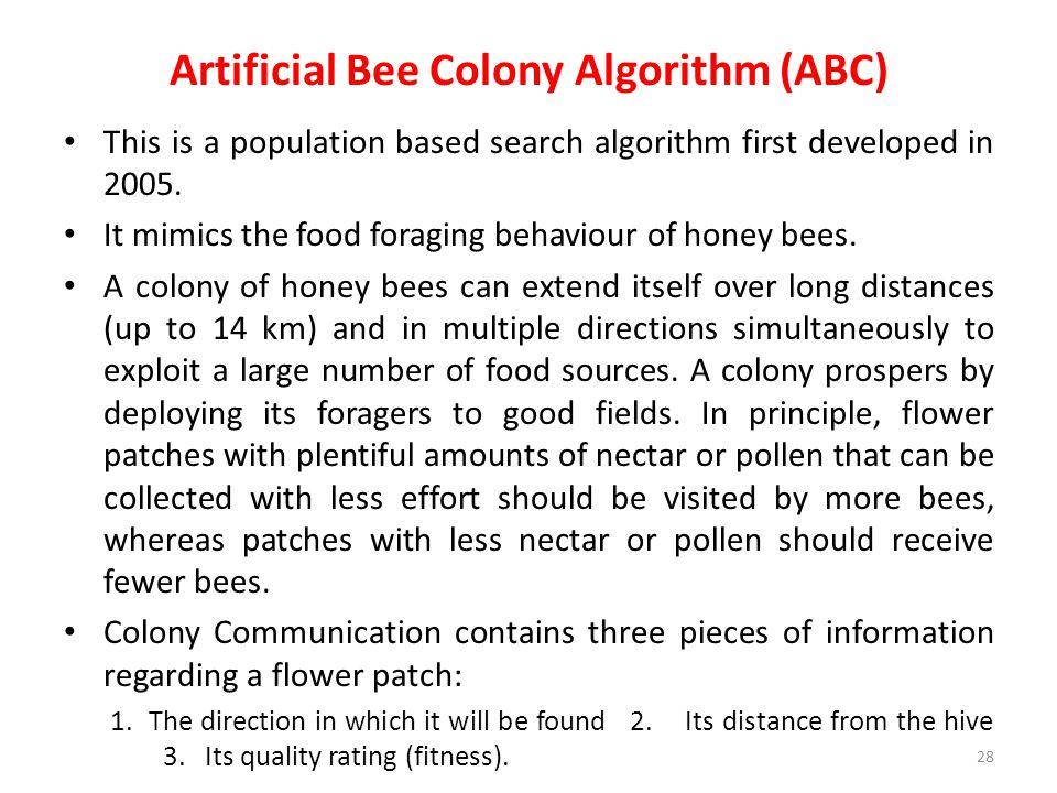 Artificial Bee Colony Algorithm (ABC)