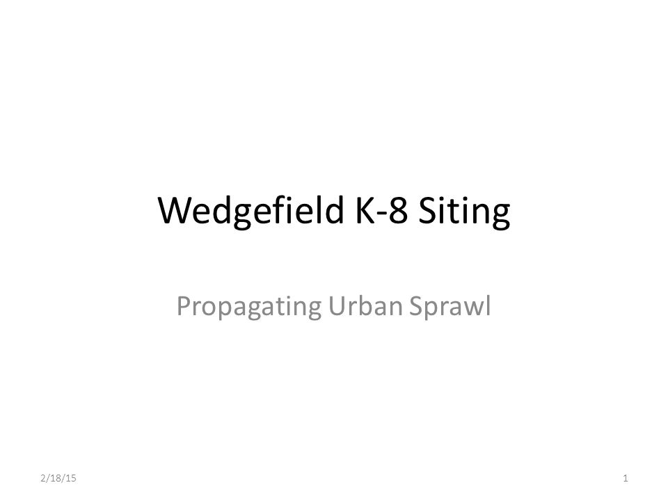 Propagating Urban Sprawl