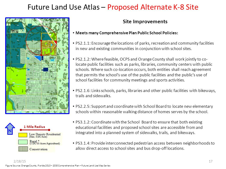 Future Land Use Atlas – Proposed Alternate K-8 Site