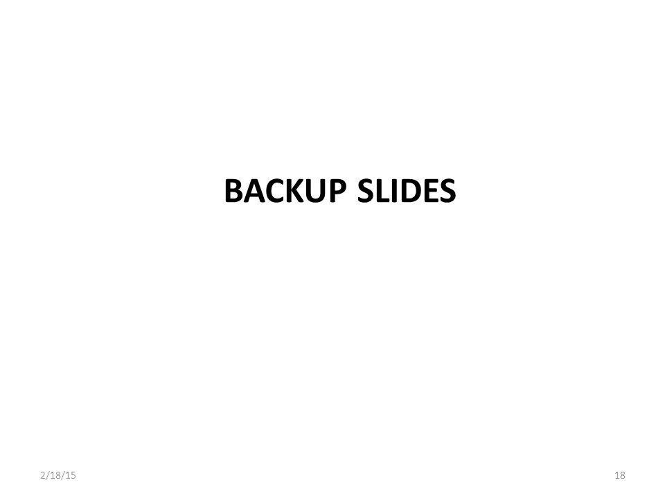 Backup Slides 2/18/15