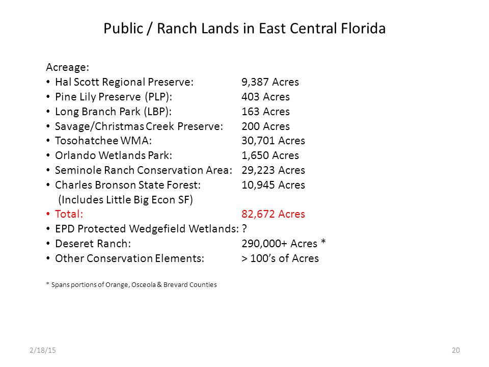 Public / Ranch Lands in East Central Florida