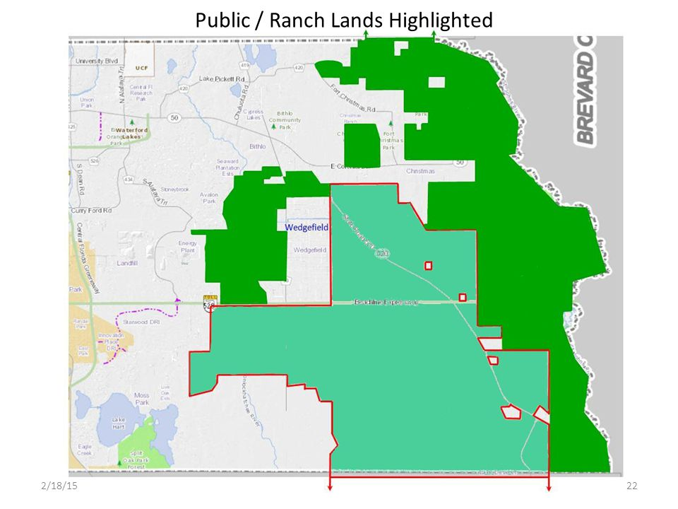 Public / Ranch Lands Highlighted