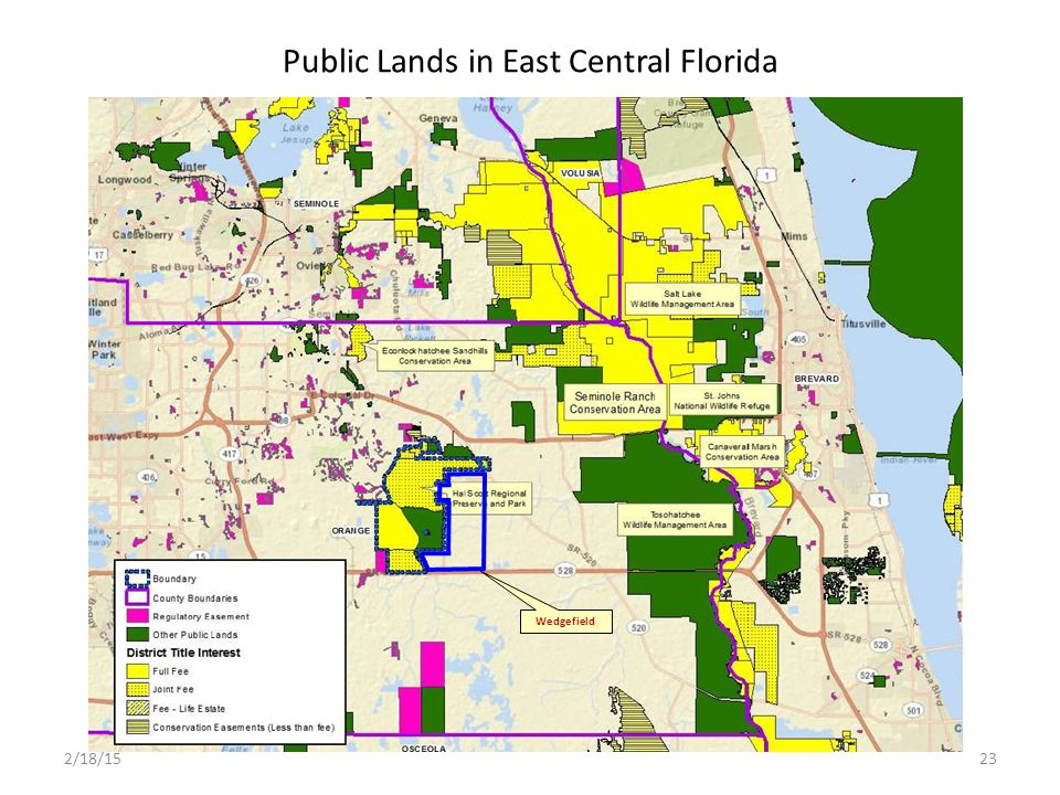 Public Lands in East Central Florida