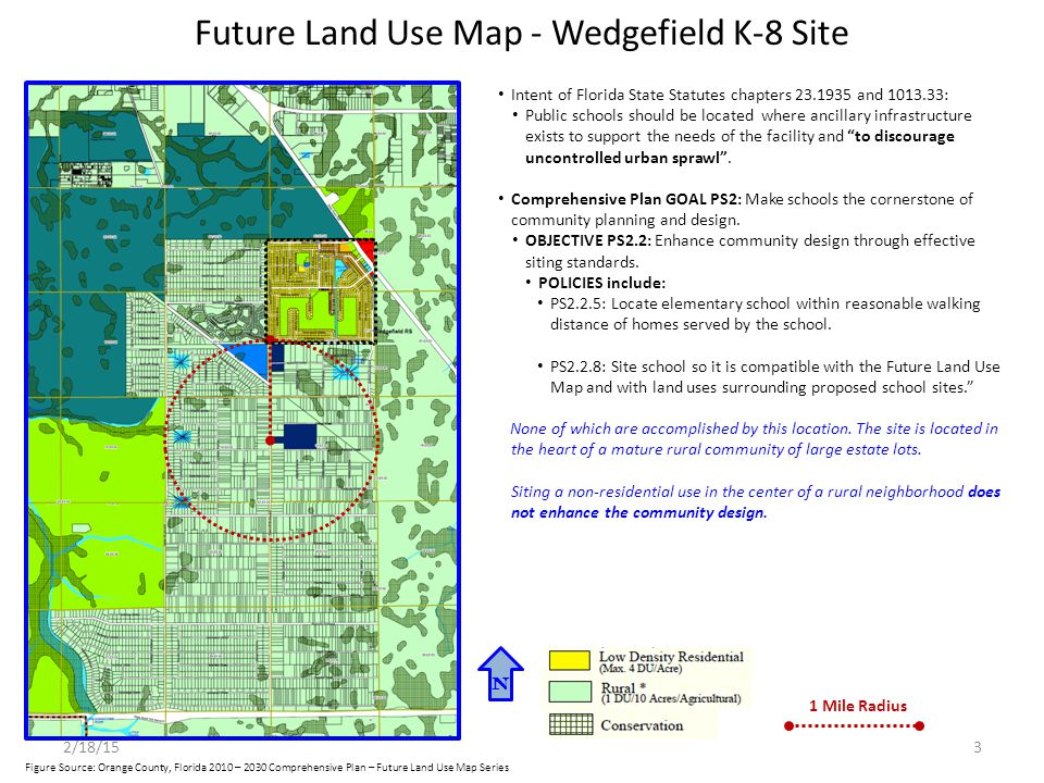 Future Land Use Map - Wedgefield K-8 Site