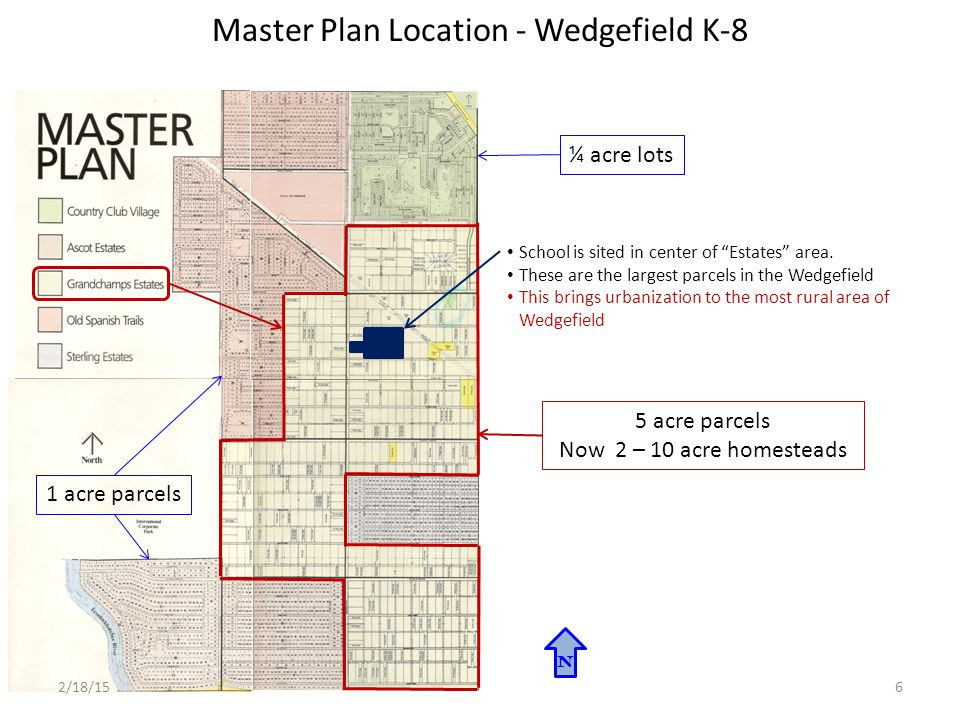 Master Plan Location - Wedgefield K-8