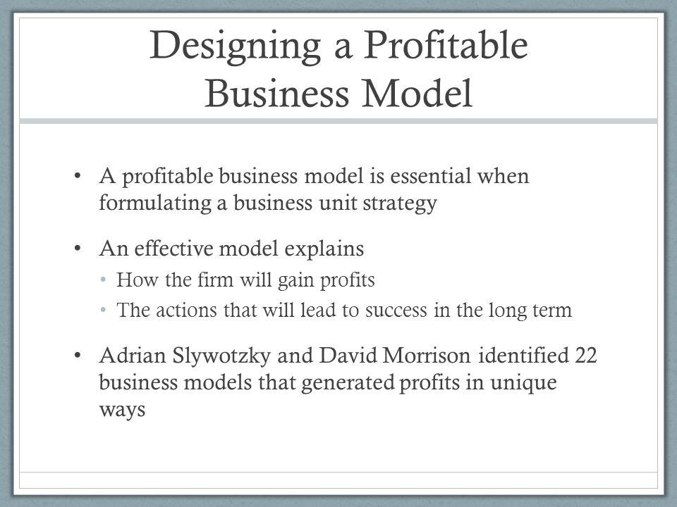 Designing a Profitable Business Model