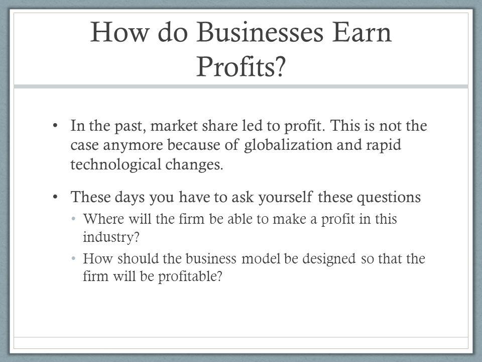 How do Businesses Earn Profits