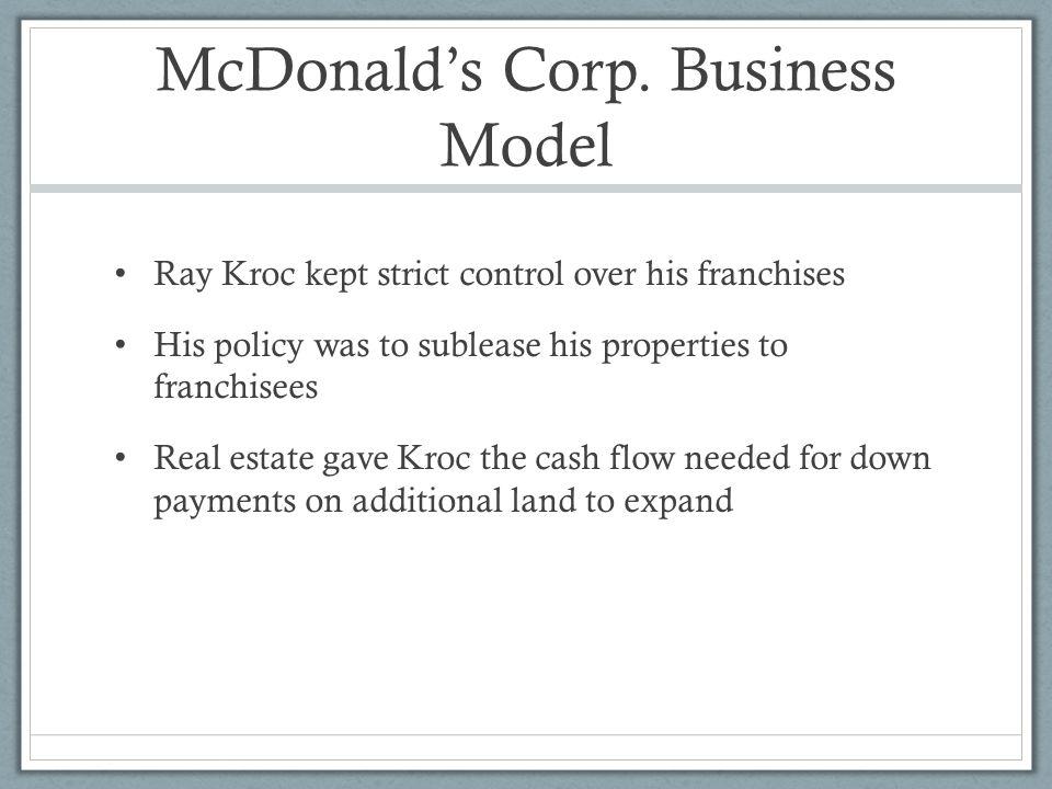 McDonald's Corp. Business Model