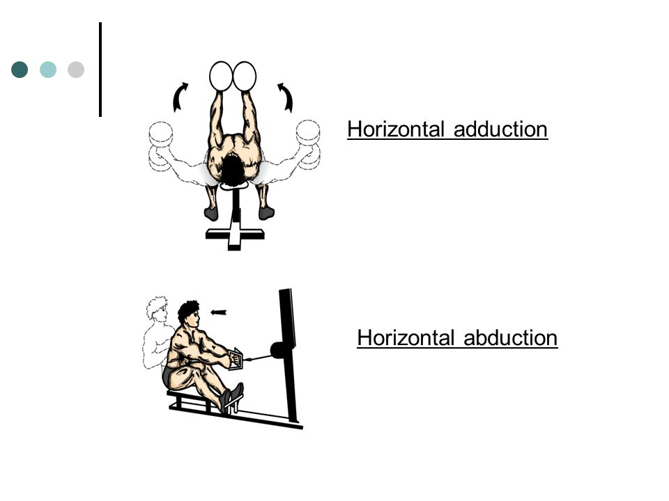 Horizontal adduction Horizontal abduction