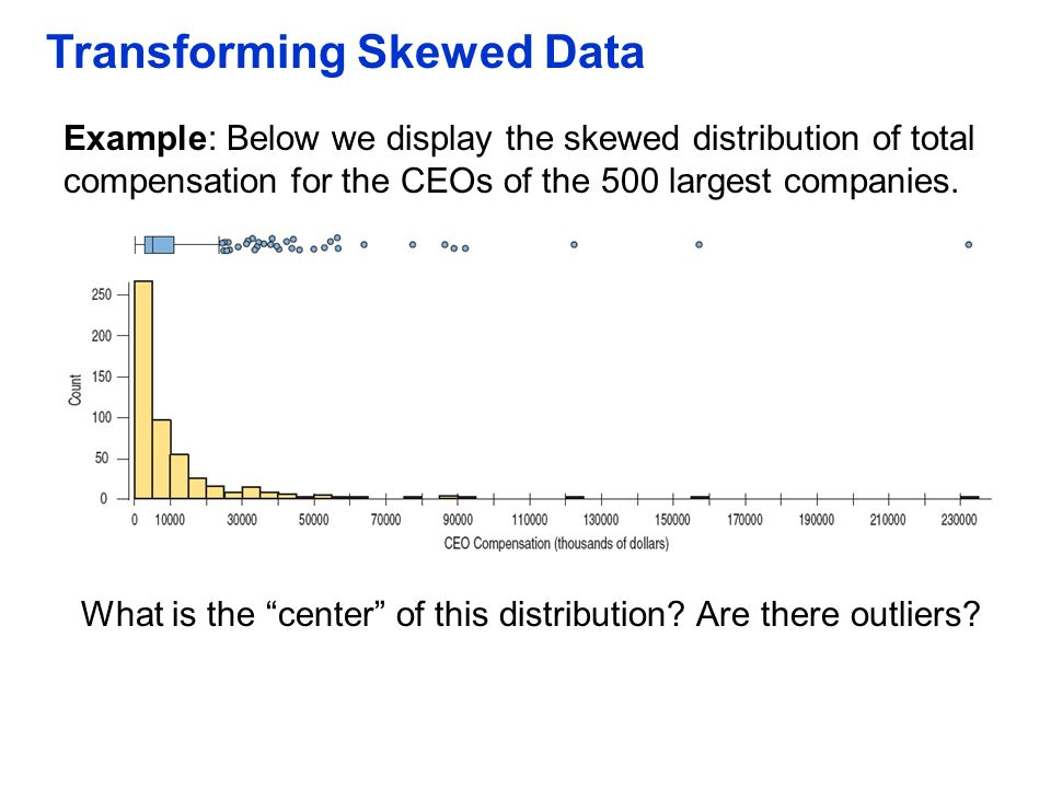 Transforming Skewed Data