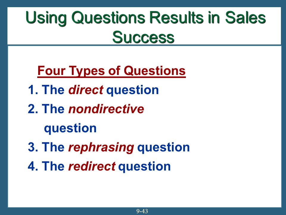 Using Questions Results in Sales Success