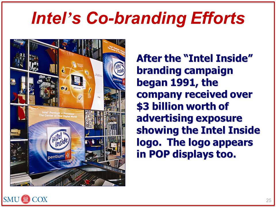 Intel's Co-branding Efforts