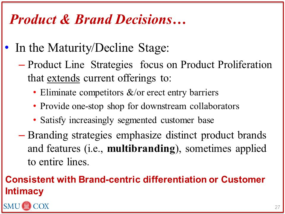 Product & Brand Decisions…