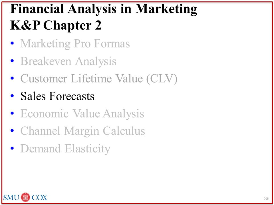 Financial Analysis in Marketing K&P Chapter 2