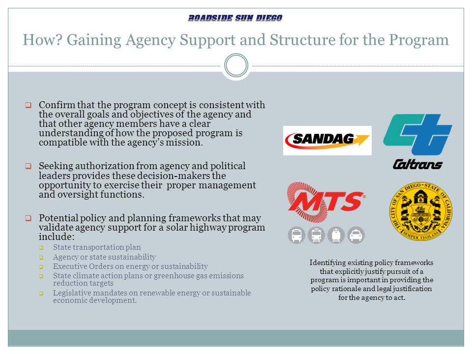 How Gaining Agency Support and Structure for the Program