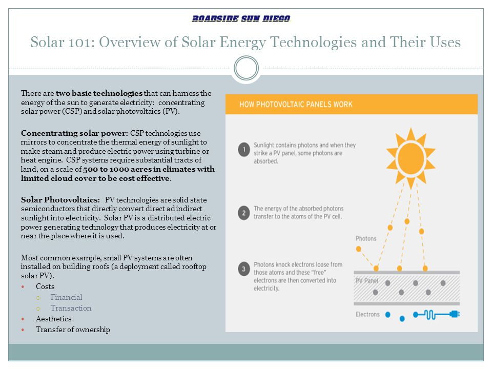 Solar 101: Overview of Solar Energy Technologies and Their Uses