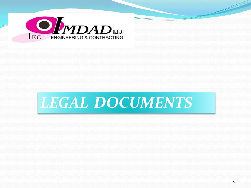 LEGAL DOCUMENTS 5